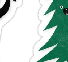 Funny Christmas Tree Hunted by lumberjack (Funny Humor) Sticker