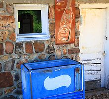 Route 66 - Pepsi Sign and Cooler by Frank Romeo