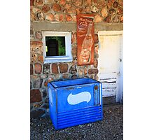 Route 66 - Pepsi Sign and Cooler Photographic Print