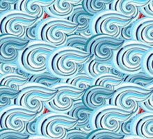 graphic pattern of waves by Tanor