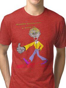 Rocks Future Past ( 1 rock FM ) Tri-blend T-Shirt