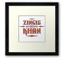 Zingis Khan Framed Print