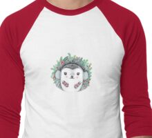 Winter Hedgehog - Watercolor - Willow Heath Men's Baseball ¾ T-Shirt