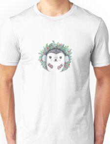 Winter Hedgehog - Watercolor - Willow Heath Unisex T-Shirt