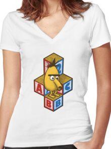 ABC-Bert Women's Fitted V-Neck T-Shirt
