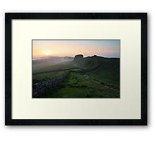 Hadrian's Wall on Cuddys Crag - c6 Framed Print