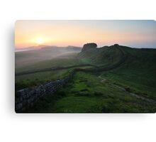Hadrian's Wall on Cuddys Crag - c6 Canvas Print