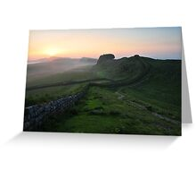 Hadrian's Wall on Cuddys Crag - c6 Greeting Card
