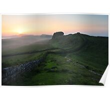 Hadrian's Wall on Cuddys Crag - c6 Poster