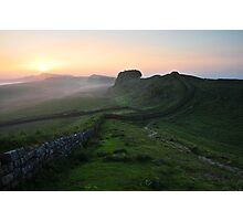 Hadrian's Wall on Cuddys Crag - c6 Photographic Print
