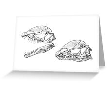 Twin Crests Greeting Card