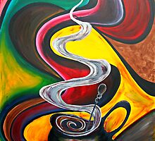 Ode to Coffee.. by Jolanta Anna Karolska / Artbyjolla