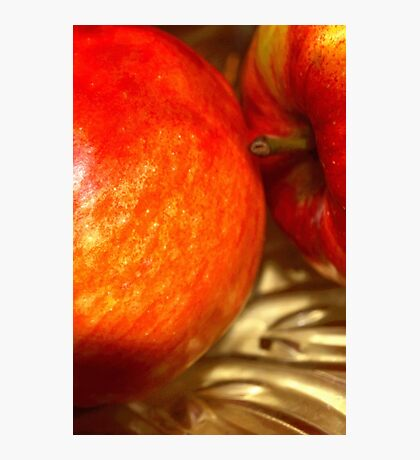 Two apples Photographic Print