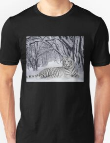 Tiger in the Snow Unisex T-Shirt
