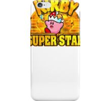 Kirby Super Star (SNES) Title Screen iPhone Case/Skin