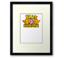 Kirby Super Star (SNES) Title Screen Framed Print