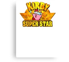Kirby Super Star (SNES) Title Screen Canvas Print