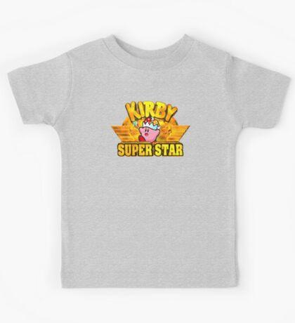 Kirby Super Star (SNES) Title Screen Kids Tee