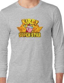 Kirby Super Star (SNES) Title Screen Long Sleeve T-Shirt