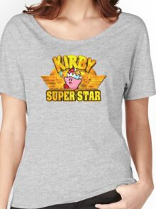 Kirby Super Star (SNES) Title Screen Women's Relaxed Fit T-Shirt