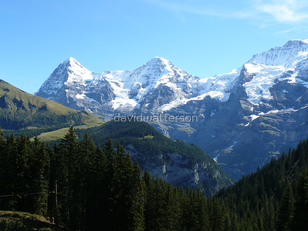 A trio of Swiss mountains by davidwatterson