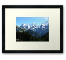 A trio of Swiss mountains Framed Print
