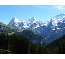 A trio of Swiss mountains Photographic Print