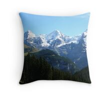 A trio of Swiss mountains Throw Pillow