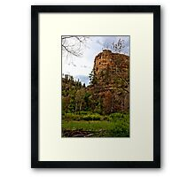 From the Parking Lot Framed Print