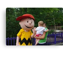 High Five with Charlie Brown Canvas Print