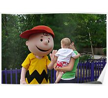 High Five with Charlie Brown Poster