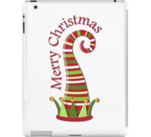 Merry Christmas Elf Hat iPad Case/Skin