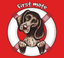 German Shorthaired Pointer :: First Mate Baby Tee