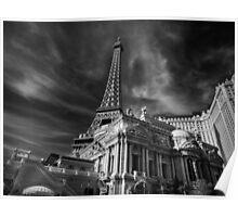 Las Vegas 019 BW Poster