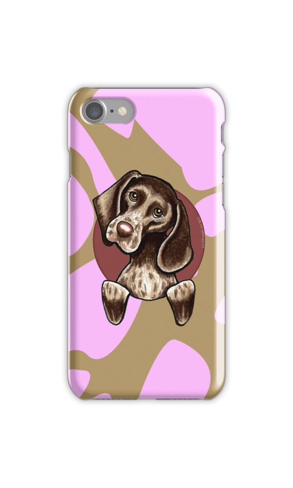u0026quot german shorthaired pointer pink camouflage u0026quot  iphone cases  u0026 skins by offleashart
