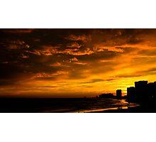 Atlantic City Sunset Photographic Print