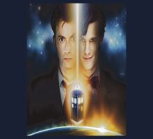 doctor who timelords 10 and 11 Split by rachick123