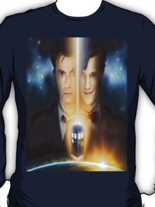doctor who timelords 10 and 11 Split T-Shirt