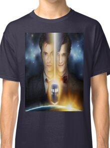 doctor who timelords 10 and 11 Split Classic T-Shirt