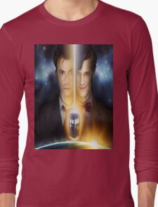 doctor who timelords 10 and 11 Split Long Sleeve T-Shirt