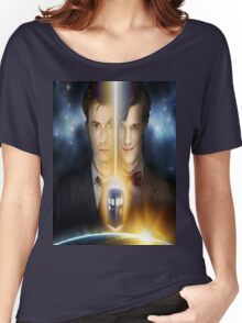 doctor who timelords 10 and 11 Split Women's Relaxed Fit T-Shirt