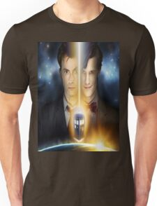 doctor who timelords 10 and 11 Split Unisex T-Shirt
