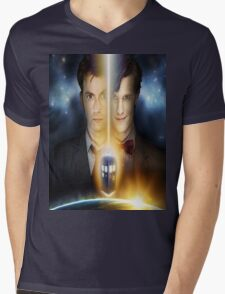 doctor who timelords 10 and 11 Split Mens V-Neck T-Shirt