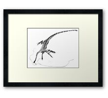 Hesperosuchus Speed Turn Framed Print
