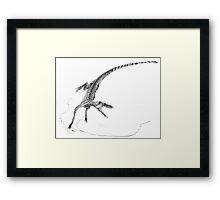 Hesperosuchus Speed Turn Framed Print