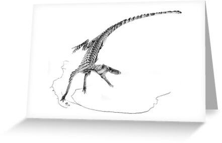 Hesperosuchus Speed Turn by Jaime Headden