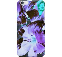 Glowing Violet Floral iPhone Case/Skin