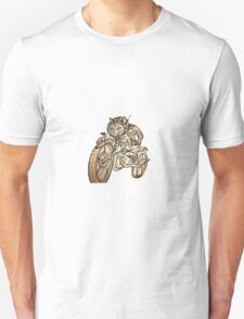 Berserk Steampunk Motorcycle Cat Unisex T-Shirt