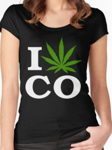 I Cannabis Colorado Women's Fitted Scoop T-Shirt