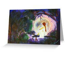 The Girl in The Moon Greeting Card